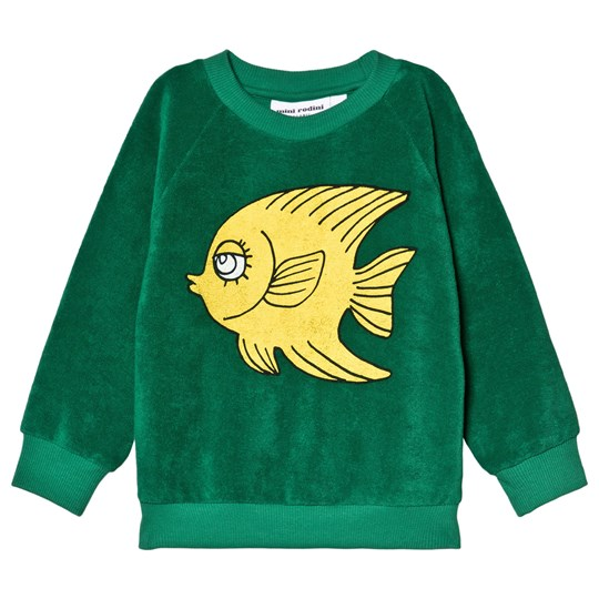 Mini Rodini Fish Terry Sweatshirt Green Green