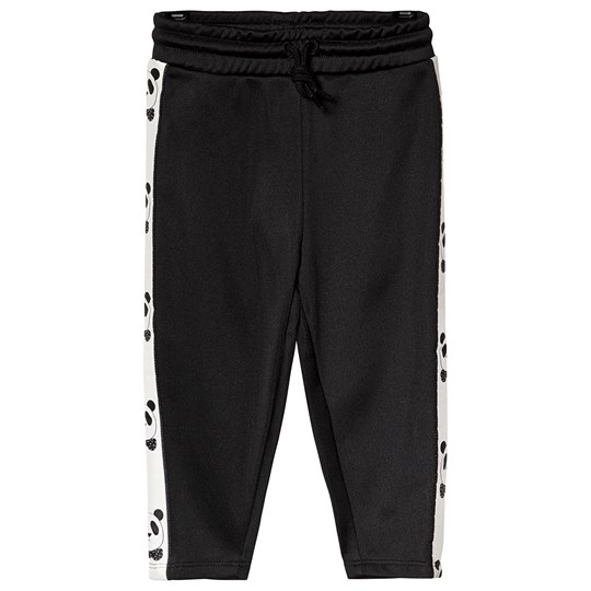 Mini Rodini Panda Pants Black Black