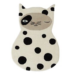 OYOY Zorro Cat Rug Off White/Anthracite