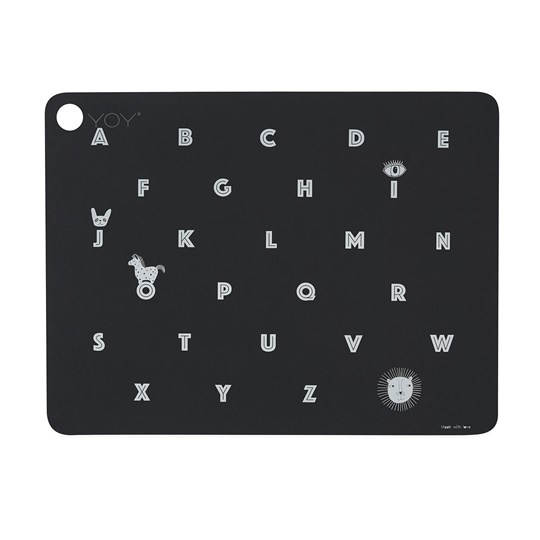 OYOY Alphabet Placemat Anthracite Anthracite
