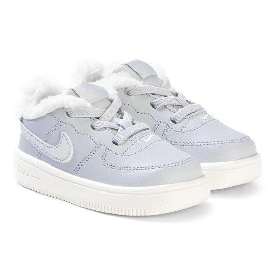 NIKE Force 1 Infants Skor Pure Platinum 001