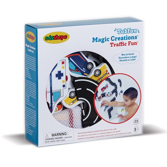 Edushape 23-Piece Magic Creations Traffic Fun Set White