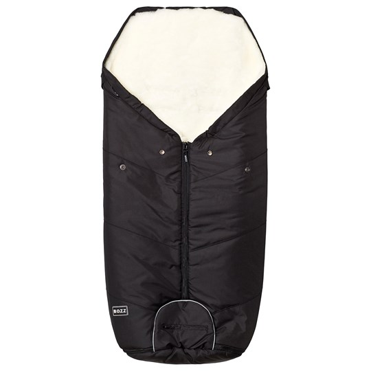 BOZZ Footmuff with Short-Haired Lambskin Black/White Black