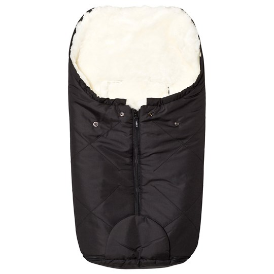 BOZZ Small Footmuff with Short-Haired Lambskin Black/White Black