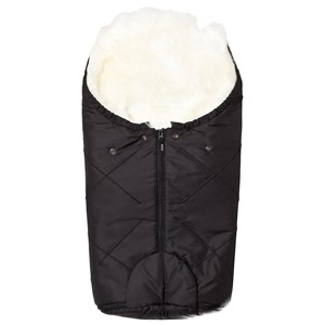 Image of BOZZ Small Footmuff with Long-Haired Lambskin Black/White (3125264619)