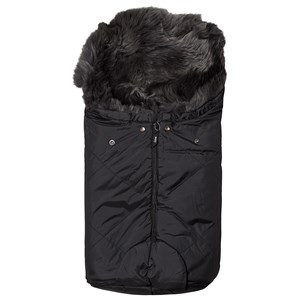 Image of BOZZ Small Footmuff with Long-Haired Lambskin Black/Grey (3125264631)
