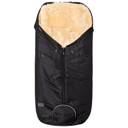 BOZZ Footmuff with Short-Haired Lambskin Black/Champagne