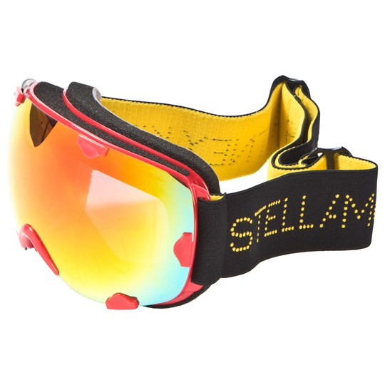 Stella McCartney Kids Black and Red Branded Ski Goggles RED-BLACK-RED