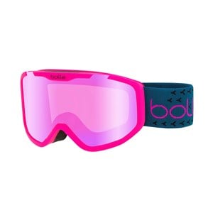 Image of Bollé Rocket Plus Ski Goggles Matte Pink & Blue/Rose Gold Lens Small (6+ years) (3125323605)