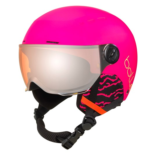 Bollé Quiz Visor Ski Helmet Matte Hot Pink/Orange Gun Visor Matte Hot Pink