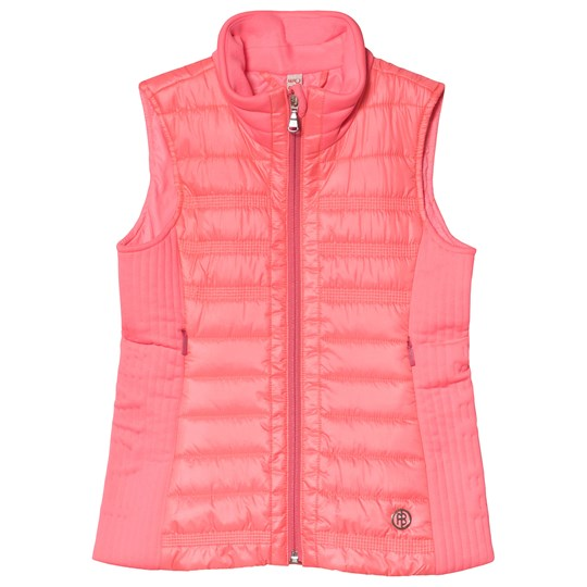Poivre Blanc Padded Gilet Mid Layer Punch Pink 0106