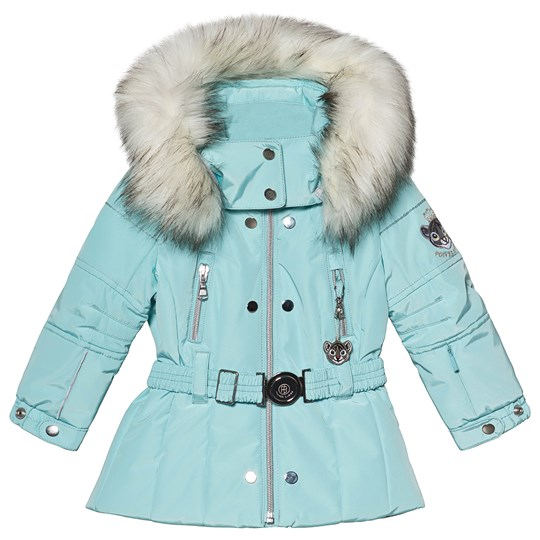 Poivre Blanc Embroidered Back Belted Ski Jacket Dream Blue 0100