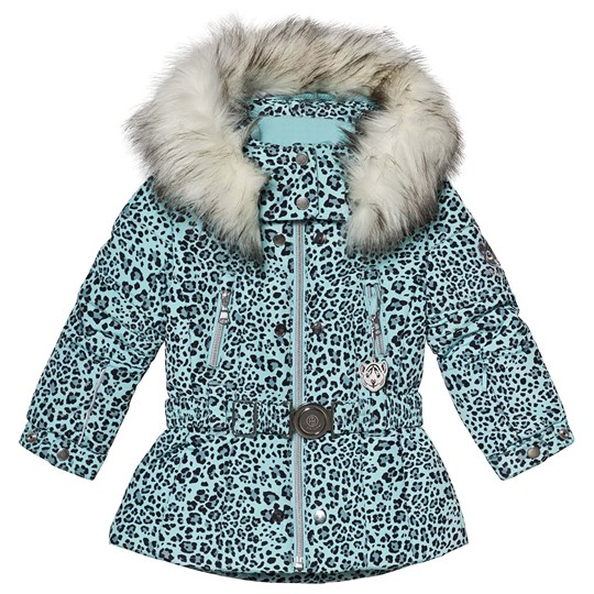 15b31930 Poivre Blanc - Leopard Embroidered Back Belted Ski Jacket Dream Blue ...