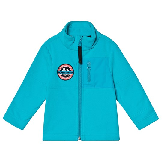 Poivre Blanc Micro Fleece Embroidered Mid Layer Vivid Blue 0120