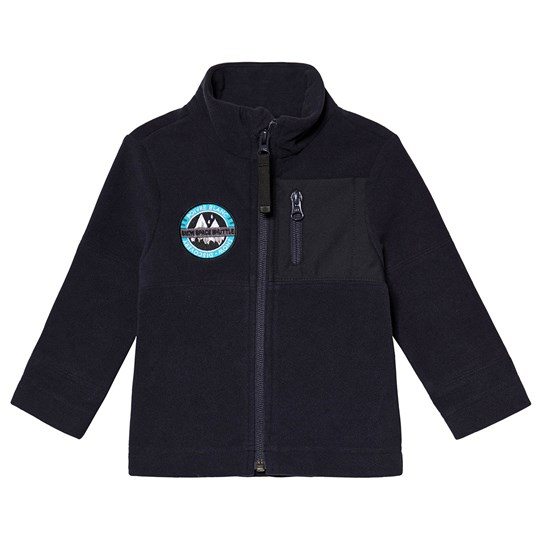 Poivre Blanc Micro Fleece Embroidered Mid Layer Navy 0132