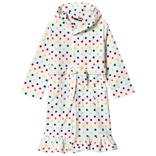 Lands' End Multi Dots Ruffle Robe V6N