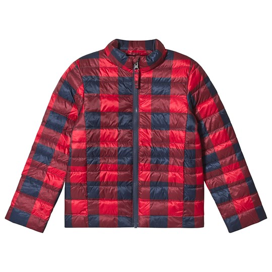 Lands' End Red and Navy Buffalo Check Jacket EXE