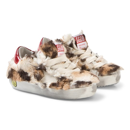 Golden Goose Leopard Faux Fur Cream Star Superstar Sneakers LEOPARD FUR-CREAM STAR