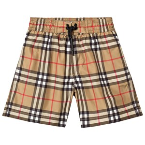 Image of Burberry Antique Yellow Vintage Check Swim Shorts 10 years (3125267401)
