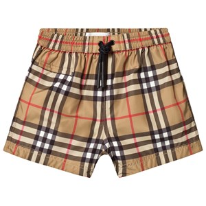 Image of Burberry Antique Yellow Vintage Check Baby Swim Shorts 18 months (3145733193)