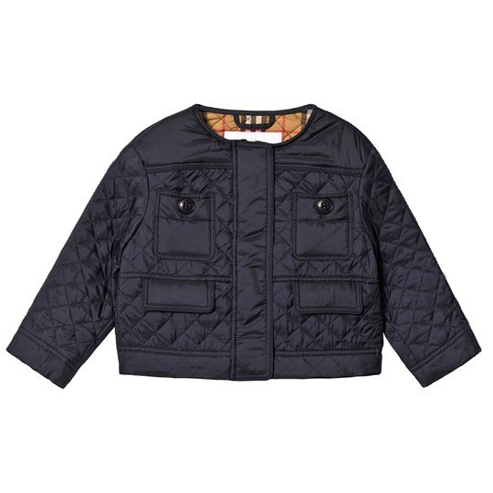 Burberry Navy Diamond Quilted Jacket A1222