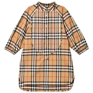 Image of Burberry Antique Yellow Vintage Check Shirt Dress 10 years (3125293643)