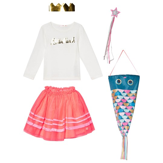 Billieblush White Logo Tee, Fuchsia Tutu Skirt and Wand Set Z40