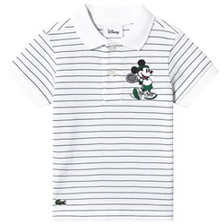 Lacoste Green Stripe Mickey Mouse Pique Polo