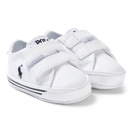 Ralph Lauren White Velcro Sneakers Navy