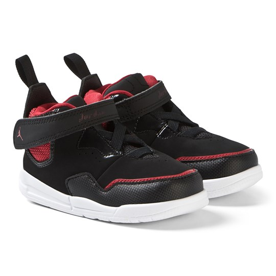 Air Jordan - Black and Red Courtside 23 Infant Sneakers - Babyshop.com 85d225204e4df
