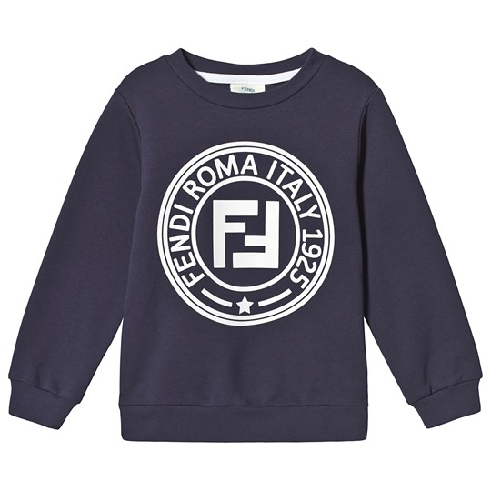 Fendi Navy Roma Stamp Sweatshirt F15A4