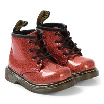 5dd80d063a2ce Dr. Martens Red Glitter 1460 Boots Red