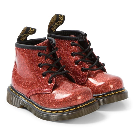 Dr. Martens Red Glitter 1460 Boots Red