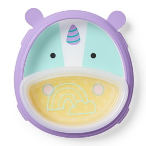 Image of Skip Hop Smart Serve™ Plate & Bowl Unicorn (3145069443)