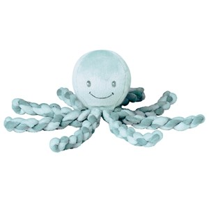 Image of Nattou Lapidou Octopus Soft Toy Mint/Green (3145069691)