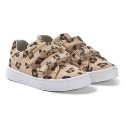 AKID Brown Axel Leopard Sneakers