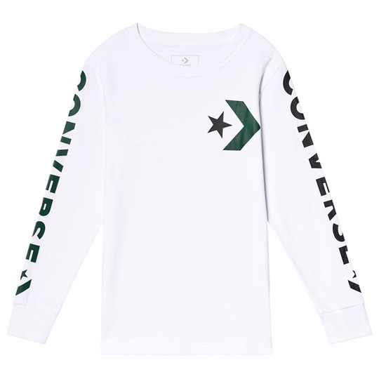 Converse White Star Chevron Wordmar Long Sleeve Tee 001