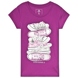Converse Purple Sequin Shoes Graphic Tee