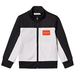Image of Calvin Klein Jeans Black and White Color Block Track Jacket 10 years (3125257455)