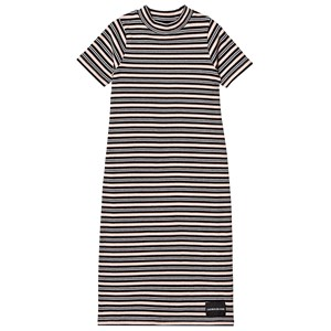 Image of Calvin Klein Jeans Black and Pale Pink Stripe Maxi Dress 14 years (3125278735)