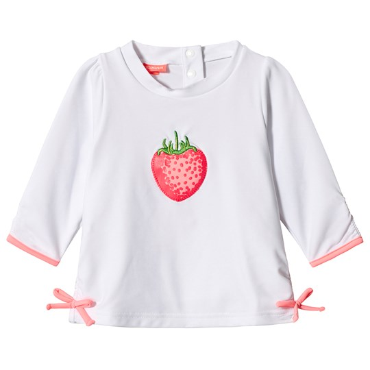 Sunuva White Wild Strawberry Rash Guard White
