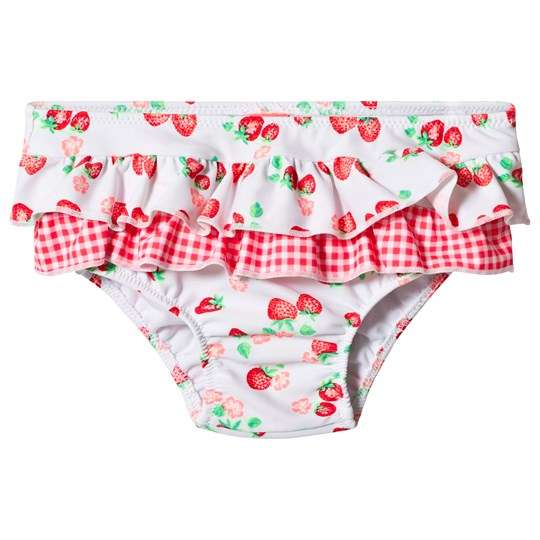 Sunuva White Wild Strawberry Frill Swim Pants White