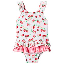 Sunuva White Wild Strawberry Swimsuit