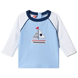 Sunuva Blue Little Boats Rash Guard