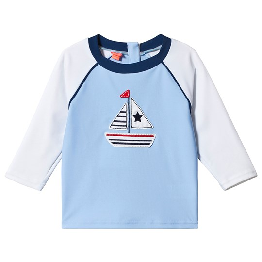 Sunuva Blue Little Boats Rash Guard Blue