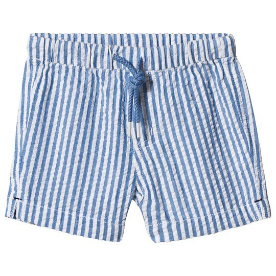 Sunuva Blue and White Stripe Cotton Shorts Blue