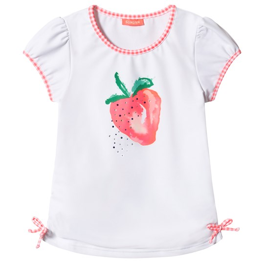 Sunuva White Strawberry Crush Rash Guard White