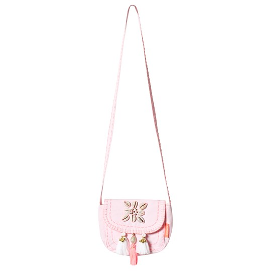 Sunuva Pink Shells and Tassels Hippy Bag Pink