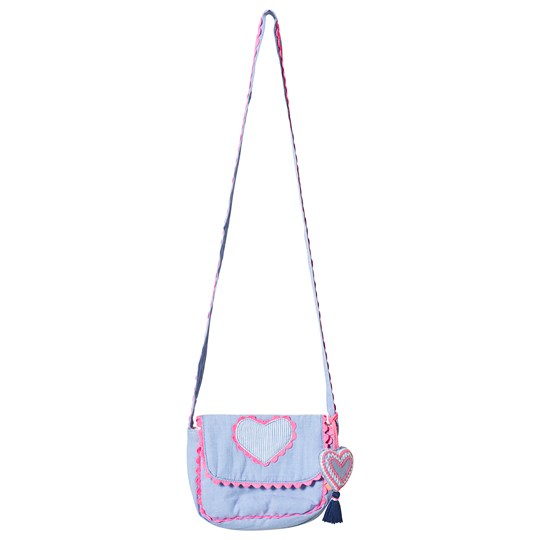 Sunuva Blue and Pink Heart Hippy Bag Blue