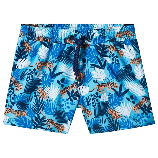 Sunuva Blue Jungle Tiger Swim Shorts Blue